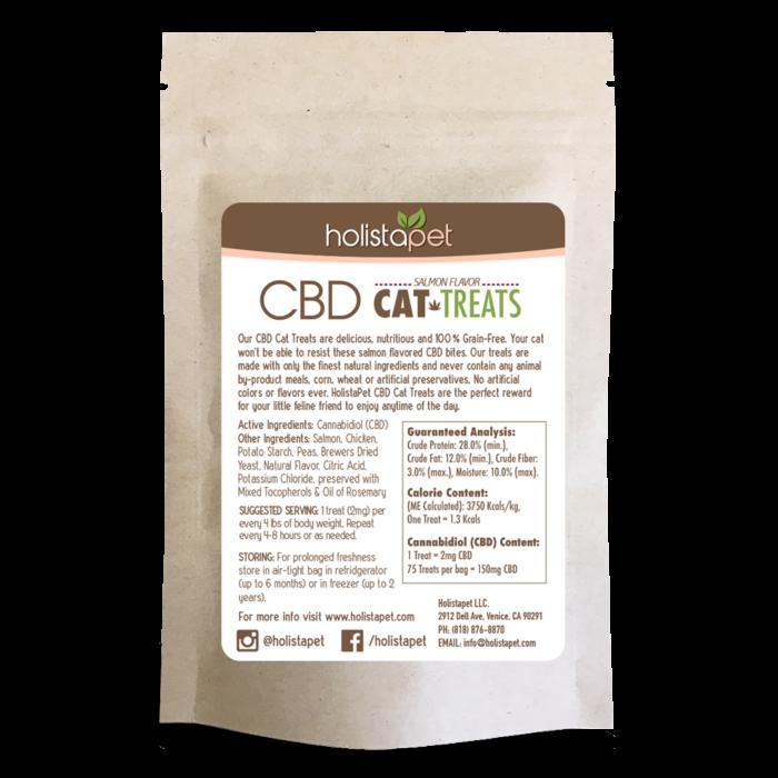 holistapet cbd cat treats back label