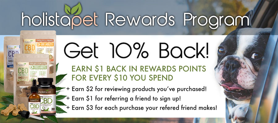 HolistaPet Rewards Program Get 10% Back
