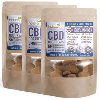 Bundle & Save: 3 CBD Dog Treats +Heart & Immune Care
